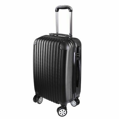 20''Cabin Luggage Suitcase - Hard Shell Travel Case Carry On Bag Trolley Black