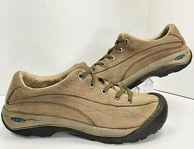 ad88ed66fc1 Keen Womens Toyah Biege Brown Leather Lace-Up Hiking Walking Shoes Size US 7