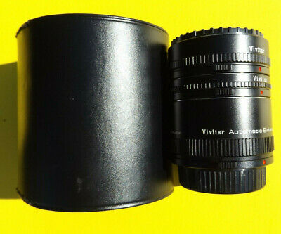 Vivitar Automatic Extension Tube W/ Case At-21 12Mm 20Mm 36Mm Japan
