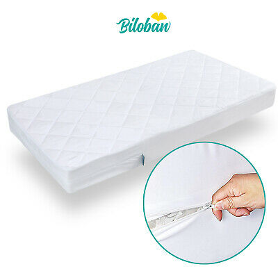"Waterproof Zippered Crib Mattress Protector Encasement 6 Side Cover 52""x 28"""