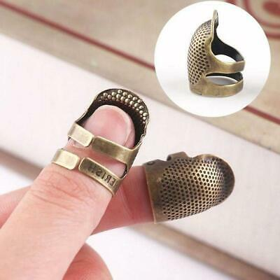 Thimble Metal Shield Sewing Thumb Finger Protector Quilt Grip Pin Needle Quilter