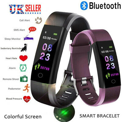 Bluetooth Fitness Activity Sports Step Tracker Heart Rate Monitor Fit Bit Style