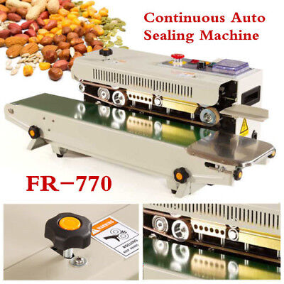 FR-770 Continuous Automatic Sealing Machine Plastic Bag Film Band Sealer 220V UK