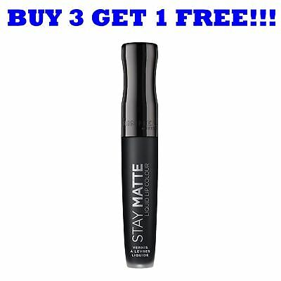 Rimmel Lipgloss Stay Matte 5.5ml Pitch Black 840