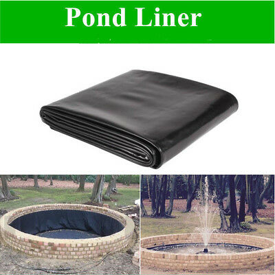 Black Fish Pond Liners Impermeable Waterproof Garden Landscaping Pools