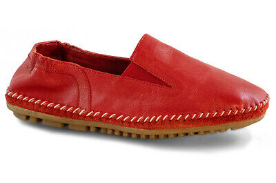 info for c4922 82867 MARC SHOES DAMEN Schuhe Leder Bequem Luna II Cow Leather red rot