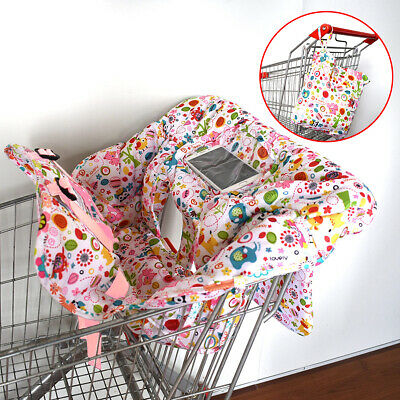 Foldable Baby Shopping Trolley Cart Seat Pad Kid Chair Cover Protective Mat Soft