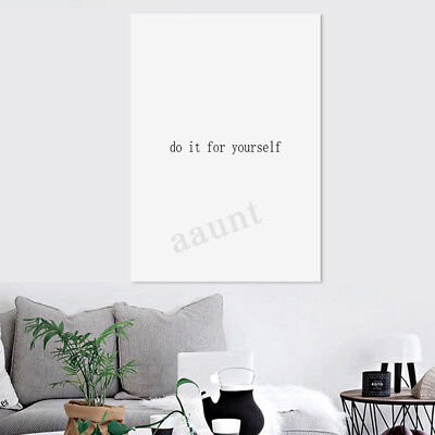 Modern Canvas Print Painting Life Quotes Wall Art Picture Home Decor Unframed !
