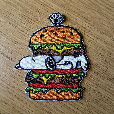 Snoopy Sandwich embroidered Patch 3 1/4 inches tall
