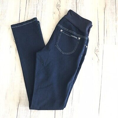 Ninth Moon Dark Blue Denim Skinny Maternity Jeans Size 10
