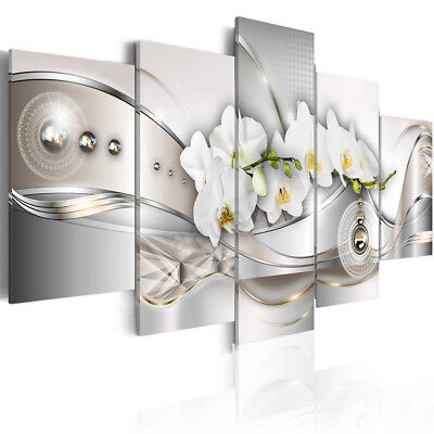 5Pcs Framed Flower Abstract Picture Canvas Print Paintings Art Home Wall Decor !