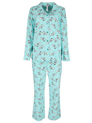 mint dog novelty womens pyjamas size 8 10 12 14 16 18 20 flannelette pj winter
