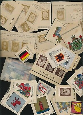 World Lot Of Back Of Book - Photos, Seals And Such 125 Items Plus - Stamps