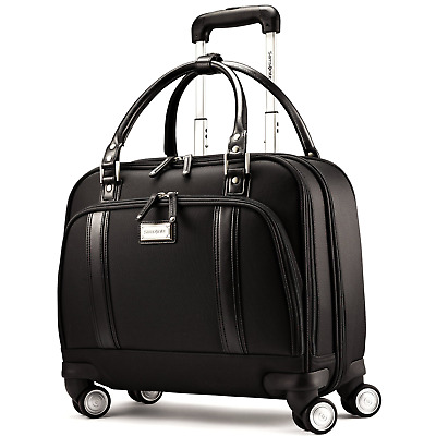 Samsonite Business Womens Spinner Mobile Office, Rolling Briefcase in Black New
