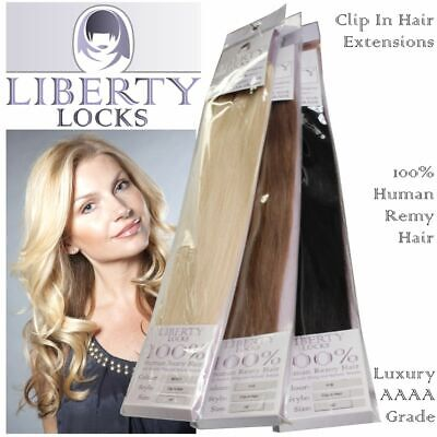 Human Hair Extensions CLIP-IN Remy Professional Grade AAAA LIBERTY Colour Choice