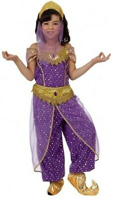 Girls Purple Arabian Belly Dancer World Film Fancy Dress Costume Outfit 3-12 yrs