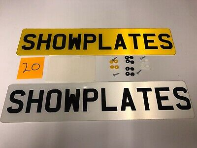 pair of quality acrylic showplates no docs needed. free postage & fittings