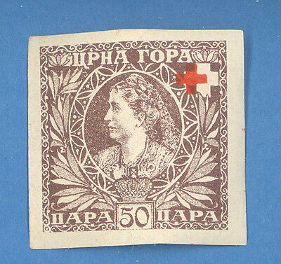 Montenegro 50 Para Red Cross Mint 1548