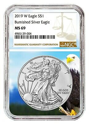 2019 W Burnished Silver Eagle NGC MS69 - Brown Label - Eagle Core