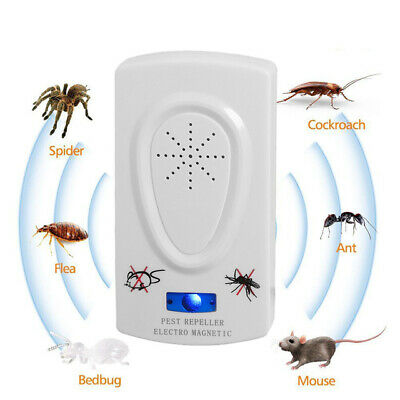 Cockroach Repeller Pest Killing Ultrasonic Reject Insect Bait Electronic Killer