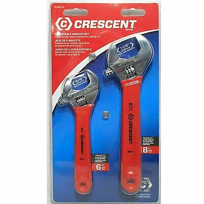 "Crescent AC268CVS 6"" & 8"" Adjustable Heat Treated Adjustable Wrench Set"