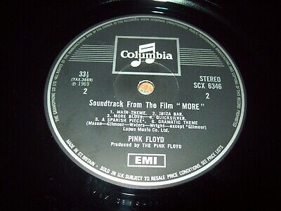 PINK FLOYD More One box Columbia 1G 1G-laminated west facing photo - SUPERB COPY