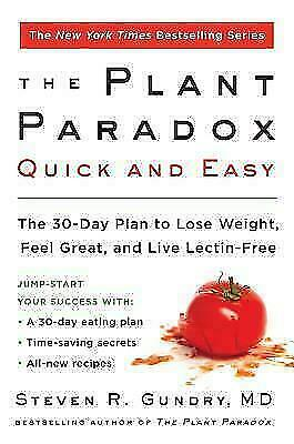 The Plant Paradox Quick and Easy: The 30-Day Plan to Lose  (E-B00K)🎁+ GIFT😍