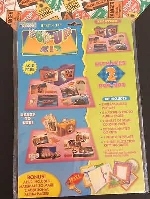 """Vacation Scrapbooking Page Pop-Up Kit 8-1/2"""" X 11"""" Vintage 1998 Memories Forever"""