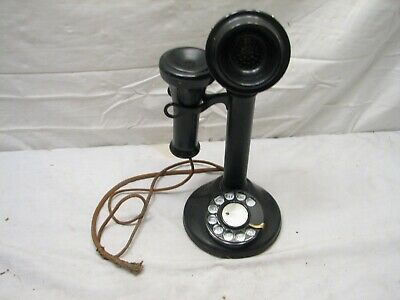 Antique Western Electric Rotary Dial Candlestick Telephone Candle Stick Phone