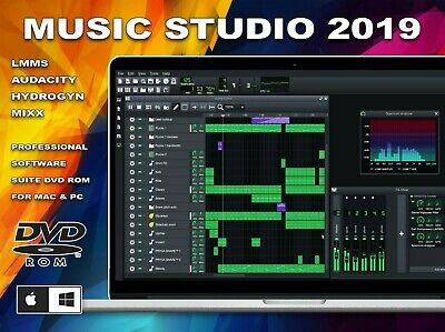 Music Studio 2019 (Professional Music Production Software Suite) DVD for PC/Mac