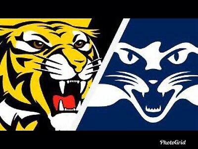 2x AFL Richmond Tigers Vs Geelong Adult Tickets ( Level 1 - First Five Rows)