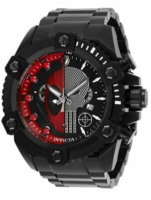 Invicta Grand Octane Marvel 27736 Punisher Deadpool Hybrid Limited Watch 63mm