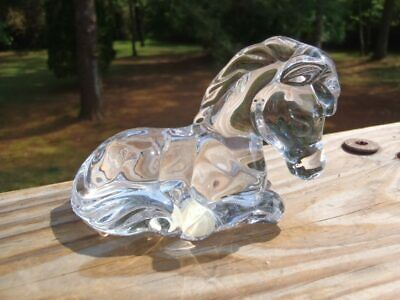 Princess House Pets Crystal Penny Pony Horse SCULPTURE FIGURINE with Label EC NR