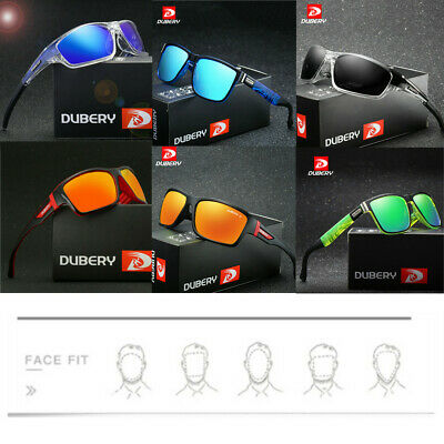 Outdoor Driving Riding Fishing Eyewear DUBERY Men Sport Polarized Sunglasses FT