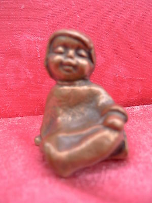Beautiful Figure Bronze Limke Handmade Boy