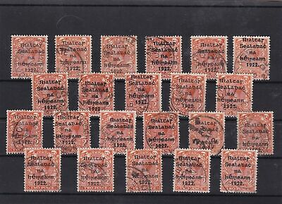 irish 1922 used postmarks stamps cancels shades Ref 8121