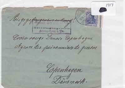 German Postal History Stamps Cover 1917  Ref 8768