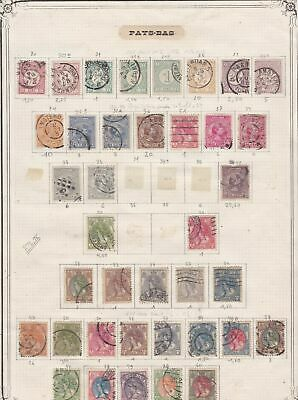 netherlands early stamps page  ref 10723