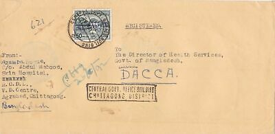 bangladesh overprints on pakistan early stamps cover ref 12830