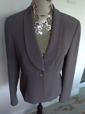 Austin Reed Ladies Mink Grey Fitted Tailored Jacket Single Breasted Size 12 7 00 Picclick Uk