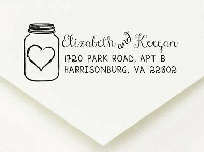 Pre-inked Self inking Personalized Custom Made Return Address Rubber Stamp FR487
