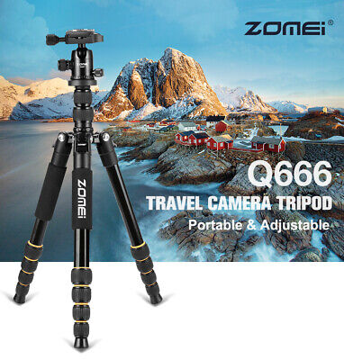Q666 Professional Portable Travel Camera Tripod Monopod DSLR Stand w/ Ball Head
