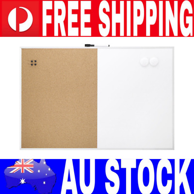Large Board Cork and Whiteboard Combo Board Message Writing Notes Pin Hang