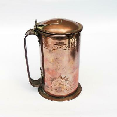 ARTS & CRAFTS COPPER TANKARD c1900 RISING SUN INN LUTON