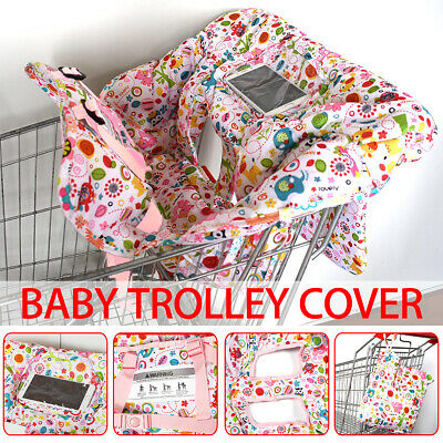 Baby Shopping Trolley Cart Seat Protective Pad Kid Child High Chair Cover Mat