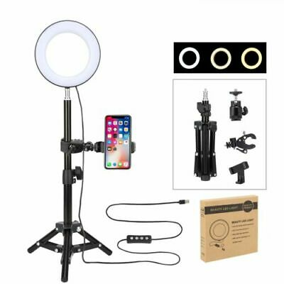 "Zomei 10"" Dimmable LED Ring Light Kit 3200K-5500K For Makeup Selfie Phone Camera"
