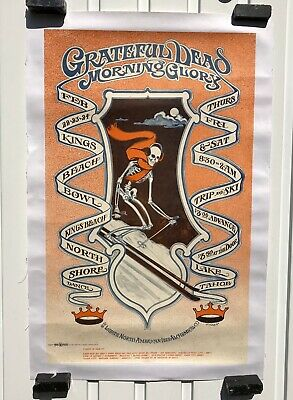 Affiche Ancienne Vintage Poster Grateful Dead Morning Glory Lac Tahoe Fried 1968