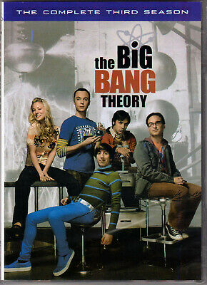 THE BIG BANG THEORY Complete THIRD SEASON 3 on a DVD of TV SHOW Series NERD Geek
