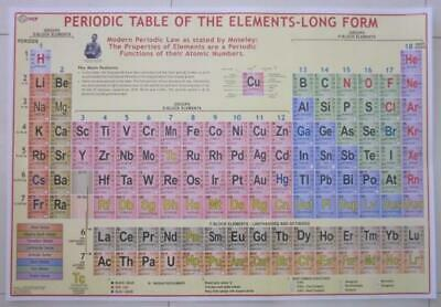 Periodic Table Of The Elements Large Laminated Chart Poster Henry Moseley