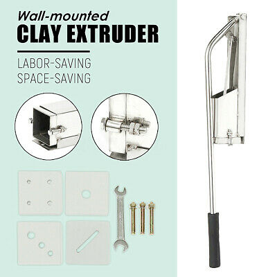 Stainless Steel Soft Clay Extruder Mud Clay Tool Machine Wall Mounted  !